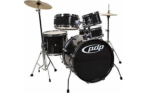 Drum Workshop Player 5pc Jr, Black, Cyms, Hw, Throne