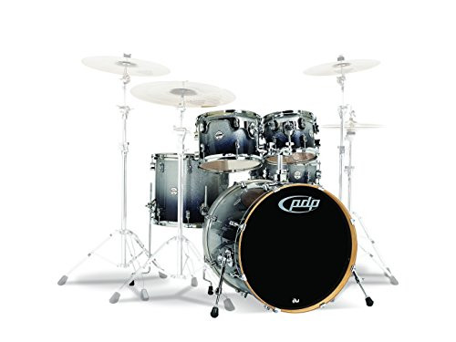 Drum Workshop Silver to Blk Fade - Chrm Hw 5 Pcs