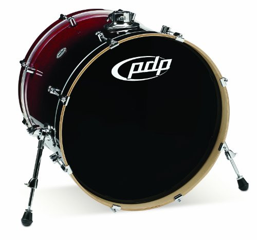 Drum Workshop Red to Blk Fade - Chrm Hw 18x22