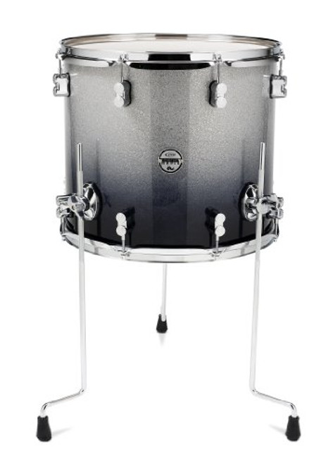 Drum Workshop Silver to Blk Fade - Chrm Hw 14x16