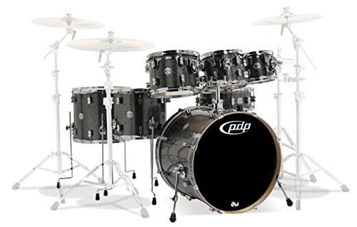 Drum Workshop Black Sparkle - Chrm Hw 7 Pcs