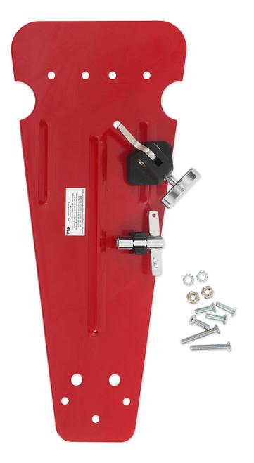 Drum Workshop Red Pedal Plate W/ 997 Hoop Clamp Velcro