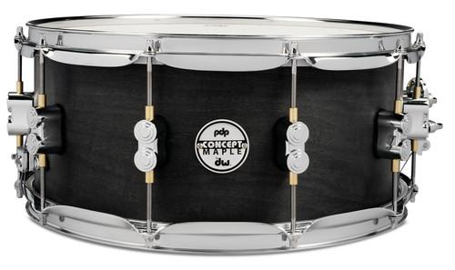 Drum Workshop Concept Snare 6.5x14, Black Wax, Cr Hw