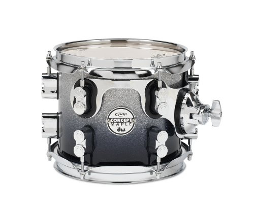 Drum Workshop Silver to Blk Fade - Chrm Hw 7x8