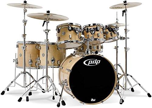 Drum Workshop Natural Lacquer - Chrome Hw 7 Pcs