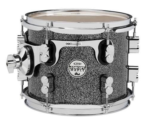 Drum Workshop Black Sparkle - Chrome Hw 8x10