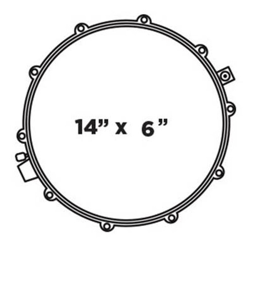 "Black Panther Design Lab 14"" Cherry Bomb Snare Drum"