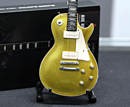 Axe Heaven Gold Top Les Paul Mini Replica
