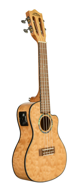 Quilted Maple Natural Concert with Kula Preamp A/E Ukulele (QM-NACEC)