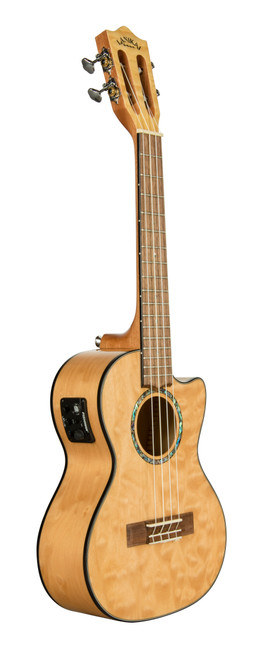 Quilted Maple Natural Tenor with Kula Preamp A/E Ukulele (QM-NACET)