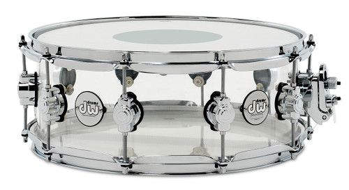 <p>DESIGN SNARE 5.5x14 CLEAR ACRYLIC (ADDAC5514SSCL)</p>