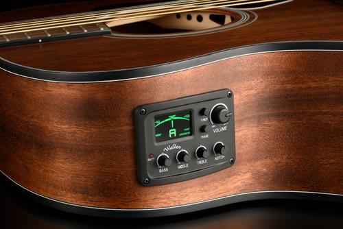 WALDEN G550RE Natura Solid Spruce Top Armrest Grand Auditorium Acoustic-Electric - Open Pore Satin Natural