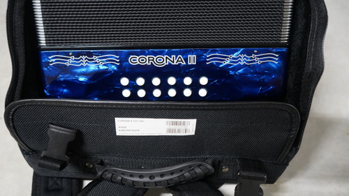 Hohner Corona II Accordion Dark Blue w/Bag SOL