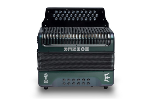 Hohner C-II Corona Accordion Green to Gold (SOL Made in Germany)