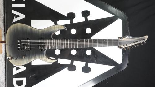 Schecter Banshee Mach-7 7-String Electric Guitar, Ebony Fretboard, Fallout Burst B Stock