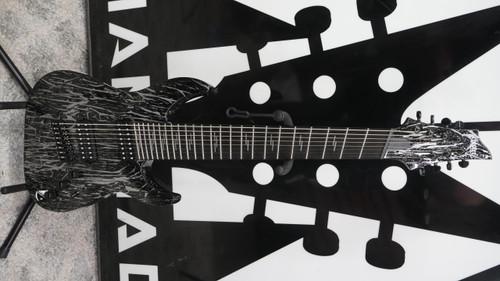 Schecter 1464 C-8 8-String Multiscale Guitar w/ Ebony Fretboard, Silver Mountain B Stock