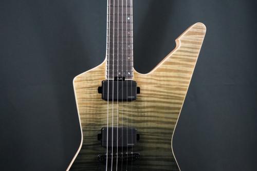 Schecter E-1 SLS Elite Electric Guitar, Ebony Fretboard, Black Fade Burst B Stock