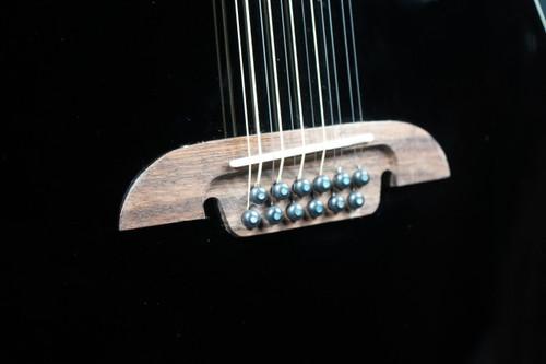 Alvarez Black 12 String Acoustic Cutaway AD6012CEBK (Used)