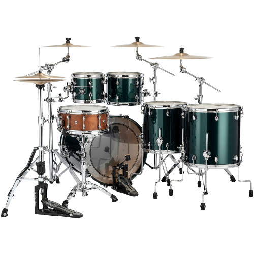 Mapex Saturn Evolution Workhorse Maple 5-Piece Shell Pack with 22 in. Bass Drum Brunswick Green
