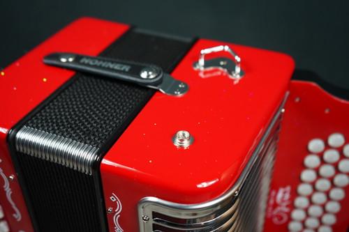 Hohner Corona III Button Accordion BbAEbb Emiliano Zuleta Signature Red Sparkle