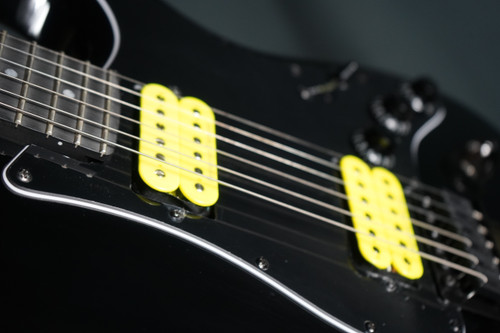 Eklein/Flaxwood Black Stratocaster Guitar