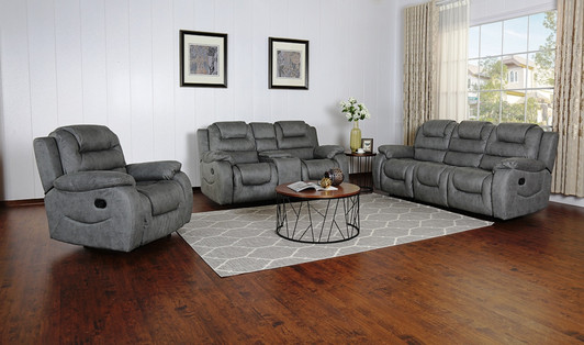 Athens Recliner 6 Seater In Gray