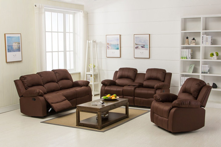 Veria 6 Seater Recliner in Dark Brown