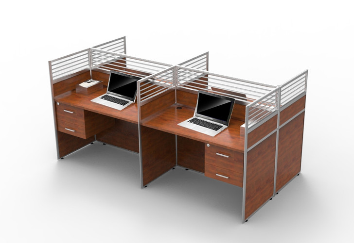 London 4 Part Workstation 2.4m*1.2m - OUT OF STOCK