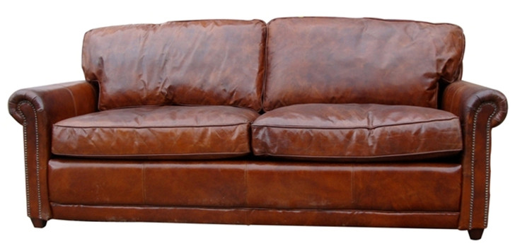 Hemmingway Sofa in Leather Vintage Cigar  - OUT OF STOCK