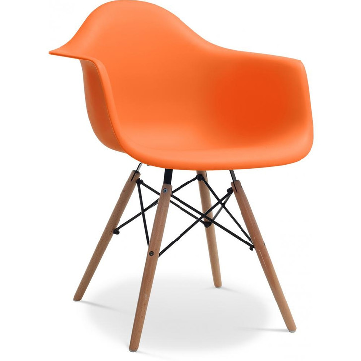 Eames Style Bistro Chair With Arms in Various Colours