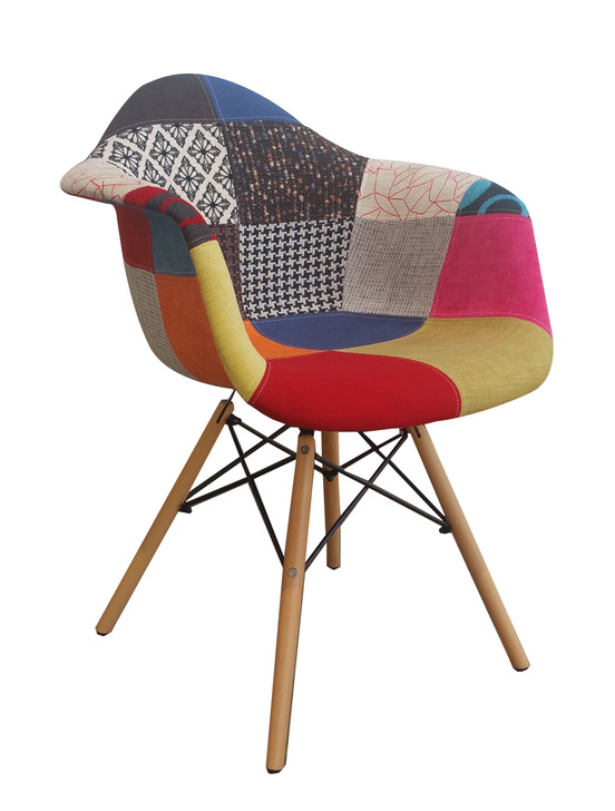 Mia Style Bistro Chair In Patchwork 2