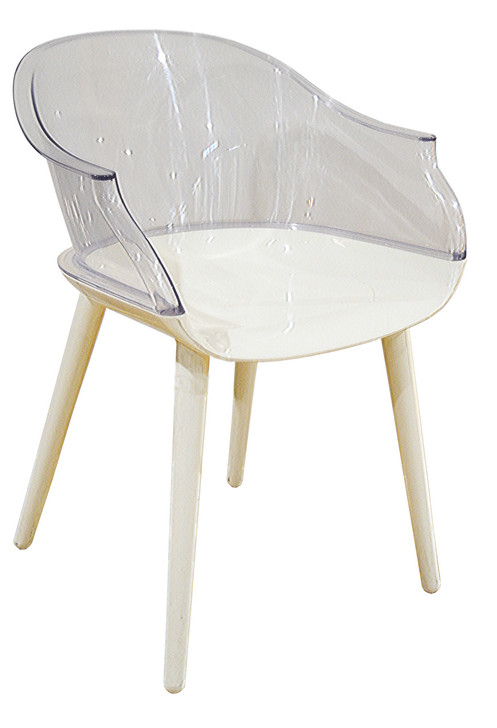 Paris Bistro Chair in Clear - OUT OF STOCK