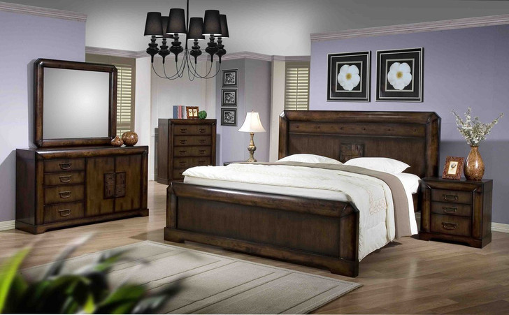 Nina Queen Bed with 2 Bedside Cabinets - OUT OF STOCK
