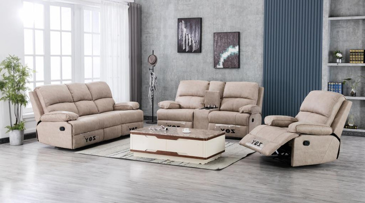 Tavros 6 Seater Recliner in Buff