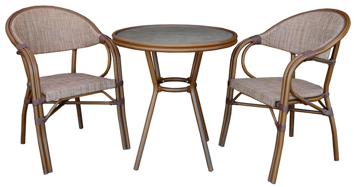 Milano Circular Bistro Table in Mix Brown
