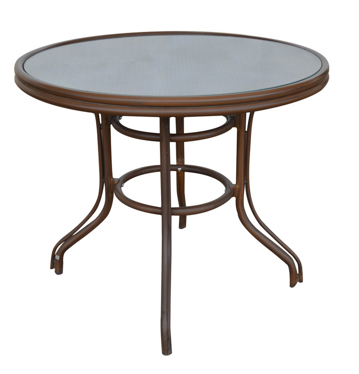Roper Circular Bistro Table In Mix Brown