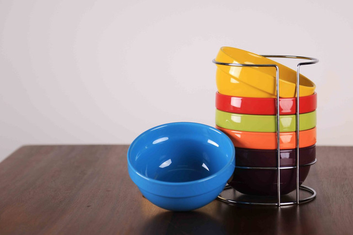 Set of 6Pcs Colorful Ceramic Cereal Bowls-OUT OF STOCK