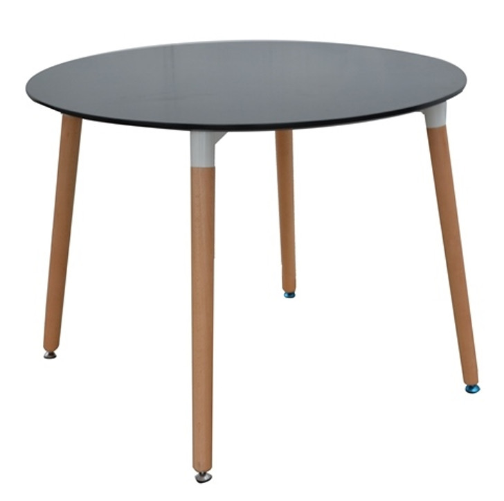 Retro Bistro Round Table in Black