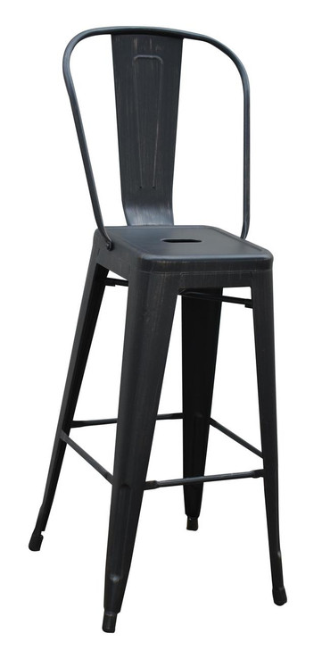 Bistro Metal Bar Chair in Various Colours