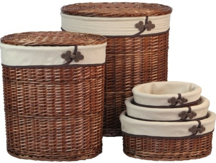 Willow Laundry Baskets (Set of 5pcs)