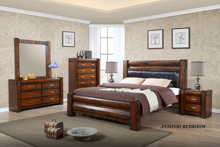 Antonio King Bed with 2 Bedside Cabinets - OUT OF STOCK