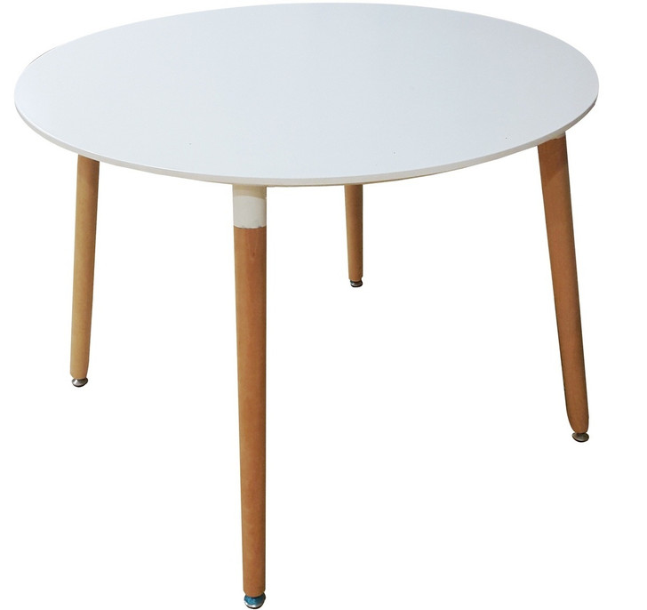 Retro Bistro Round Table In White