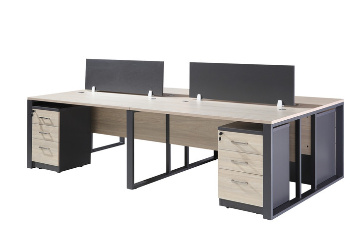 Staten 4 Part Work Station 2.8m*1.4m - OUT OF STOCK