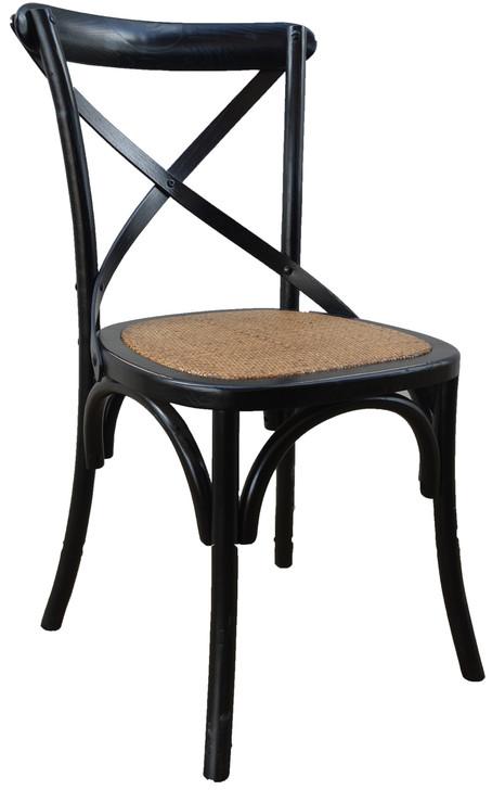 Allan Bistro Chair in Black