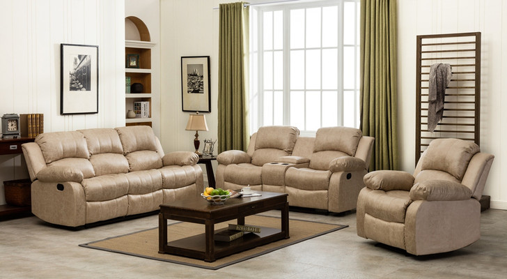Veria 6 Seater Recliner in Beige - OUT OF STOCK