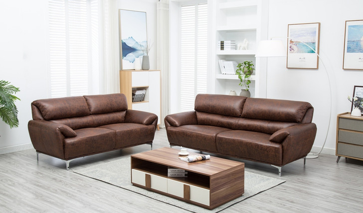 Boston 5 Seater Sofa Set in Yellow Brown