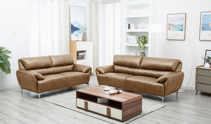 Boston 5 Seater Sofa Set in Beige