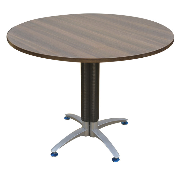 Empire Circular Conference Table In Dark Oak - OUT OF STOCK