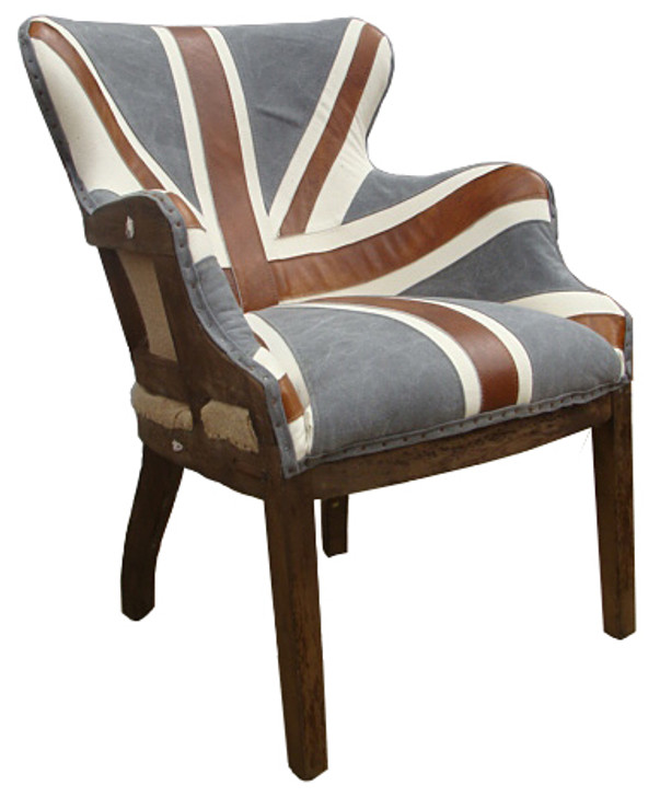 Mark Twains Writers Chair in Union Jack Design