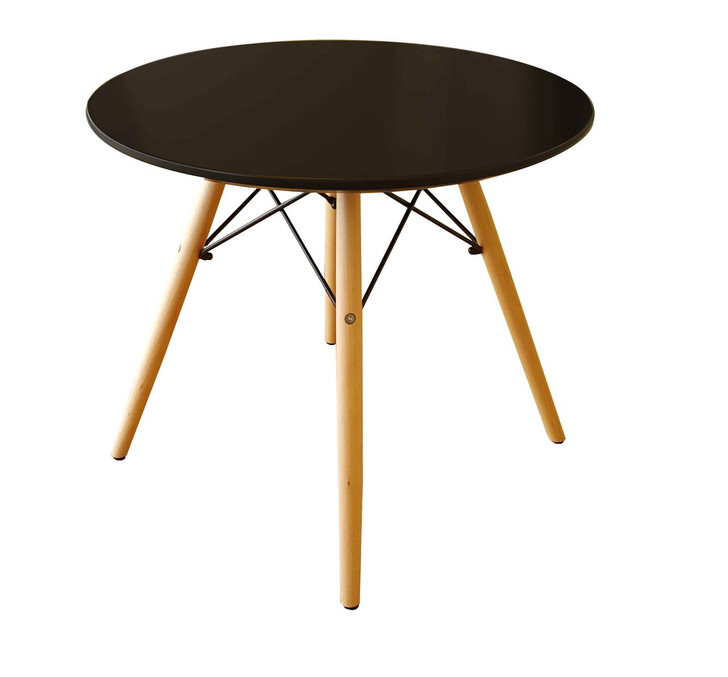 Retro Bistro Round Coffee Stool in Black